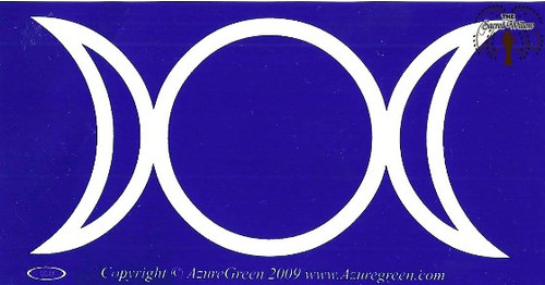 Triple Moon bumper sticker 4.5cm x 7.5cm