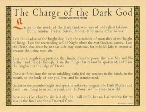 Charge fo the Dark God Poster on Parchment A4