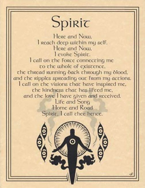 Spirit Evocation Poster on Parchment A4
