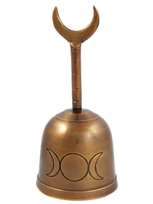 "Bronze Triple Moon Altar Bell 12.7cm / 5"""