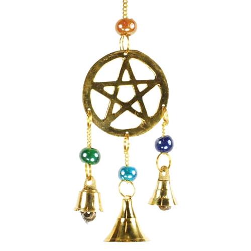 Three Bell Pentagram Wind Chime