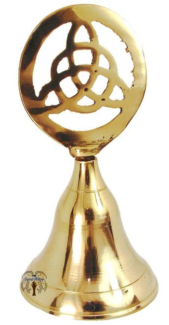 Brass Triquetra  Altar Bell 10cm