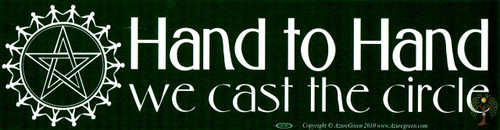 Hand to Hand We Cast the Circle Vinyl Bumper Sticker 29cm x 7.5cm