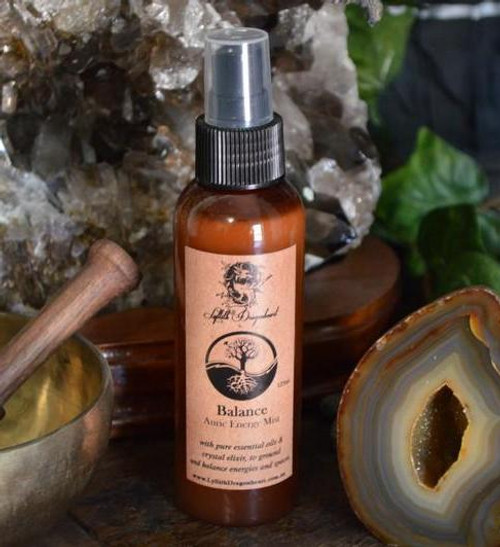 Balance is an extremely grounding and balancing mist spray designed to clear and balance the Auric Energy Field. It is also perfect for after psychic and divination workings when you need to ground your energies after clients. Healers and Therapists may also find this spray useful for their healing rooms and clinics to ground and balance the energy of clients before treatments.