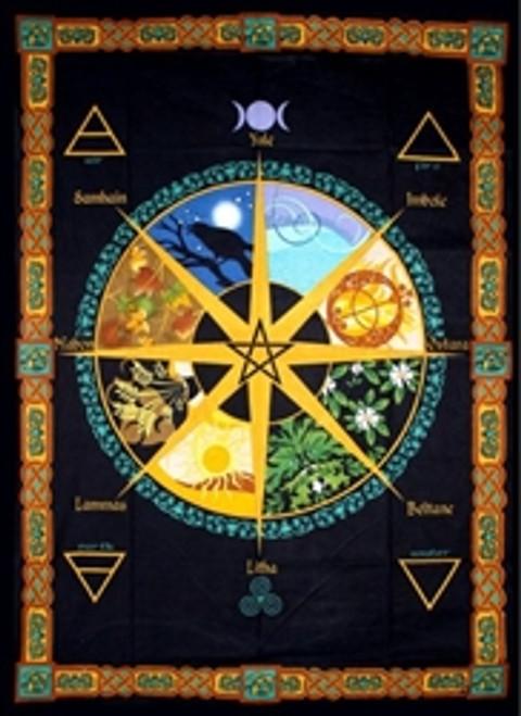 Pagan Calendar Tapestry 193cm x 132cm 100% Cotton
