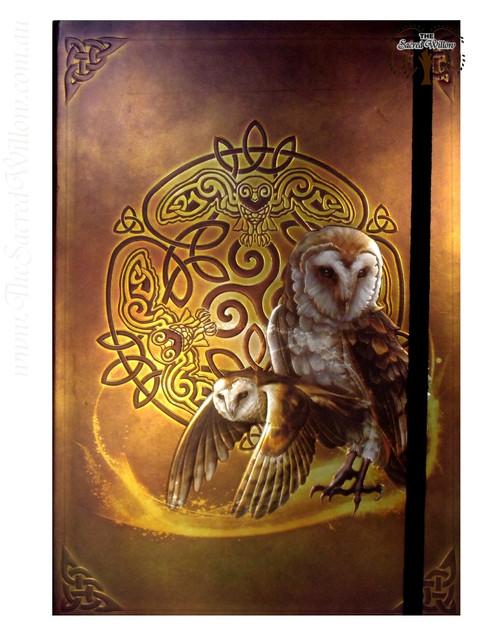 Celtic Owl Spell Book / Journal with Pen 14.5x21cm