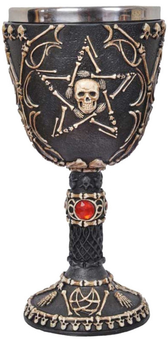 Skull and Pentagram Chalice 19cm