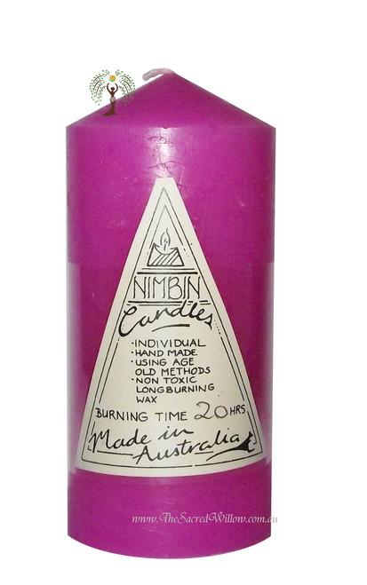 Pink Hand Made Church Pillar Candle