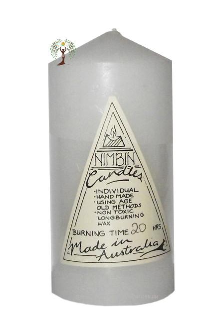 White Hand Made Church Pillar Candle