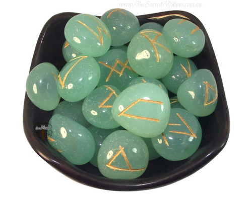 Aquamarine Gemstone Rune Set