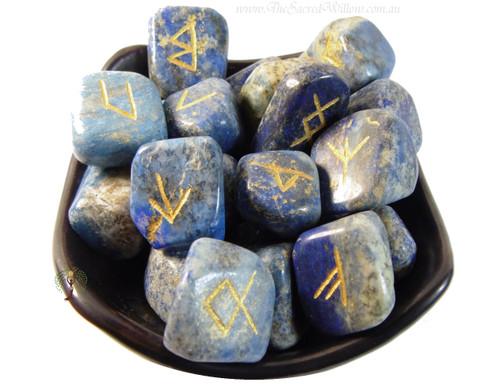 Lapis Lazuli Crystal Runes Set