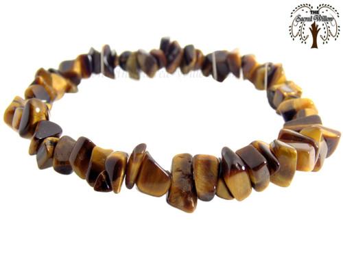 Tiger Eye Gemstone Chip Stretch Bracelet
