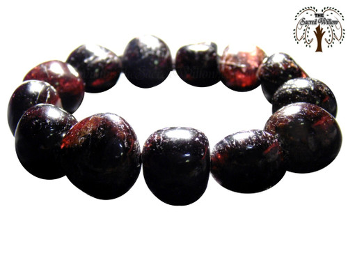 Garnet Nugget Stretch Bracelet Tumbled Stones