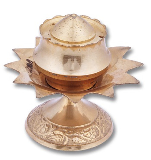 Brass Lotus Incense Holder