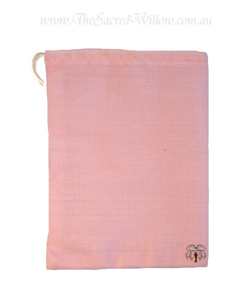 Pink Cotton Mojo Bag 10cm