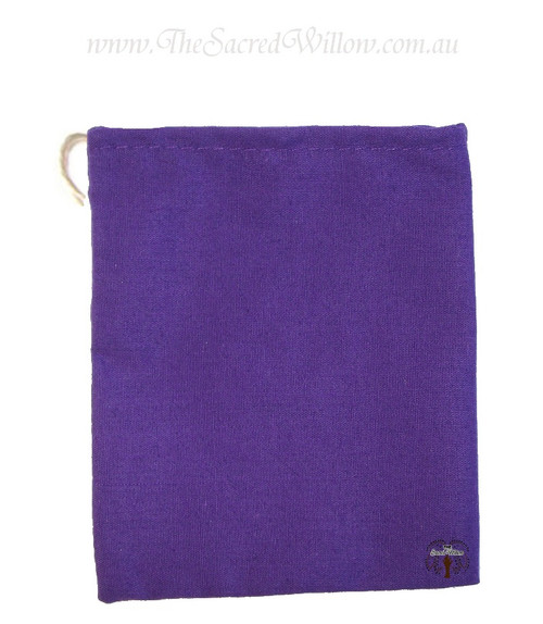 Purple Cotton Mojo Bag 10cm
