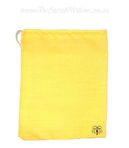Yellow Cotton Mojo Bag 10cm