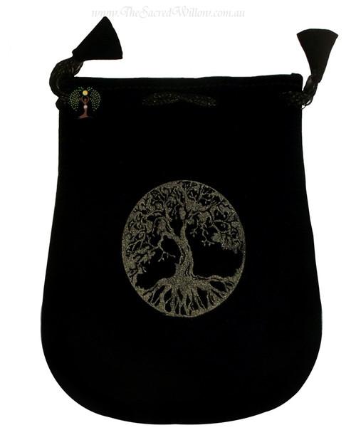 """Tree Of Life Velveteen Bag / Mojo Bag 13cm / 5"""""""