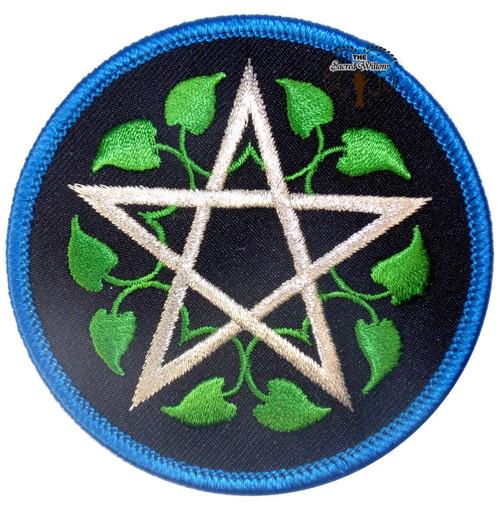 "Leafy Pentagram patch 3"" Iron On Patch"