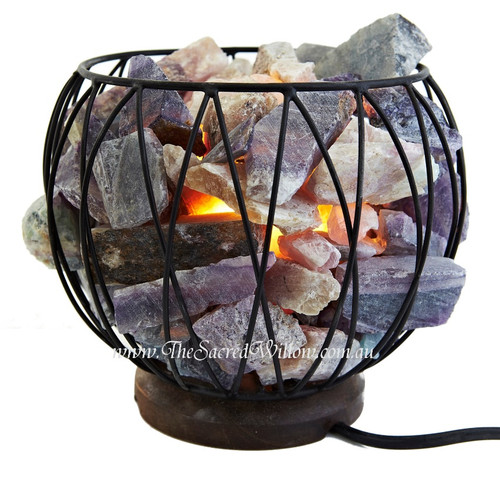 Flourite Crystal Cage Lamp