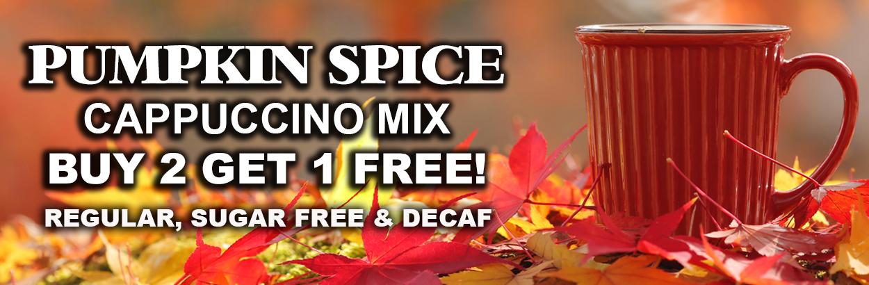 buy 2 get 1 free pumpkin spice cappuccino