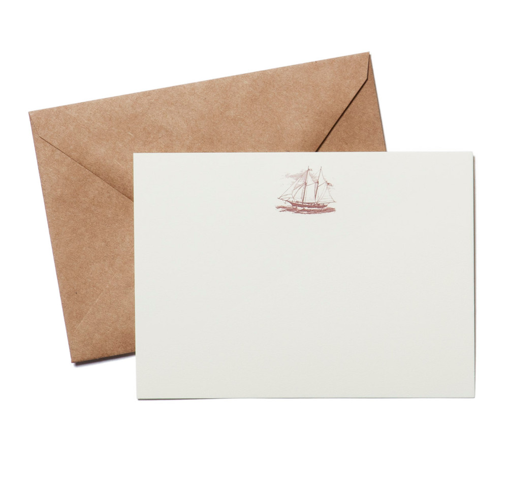 terrapin stationers clipper ship engraved stationery set sir jack s