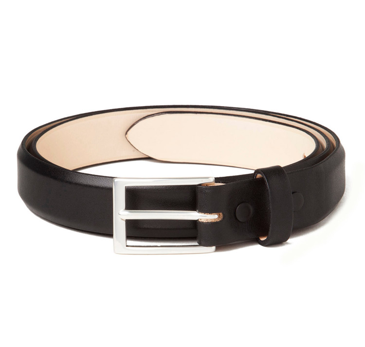 Calfskin Belt in Black