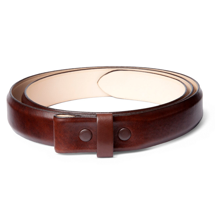 "Brown Pulled Leather 1"" Belt Strap"