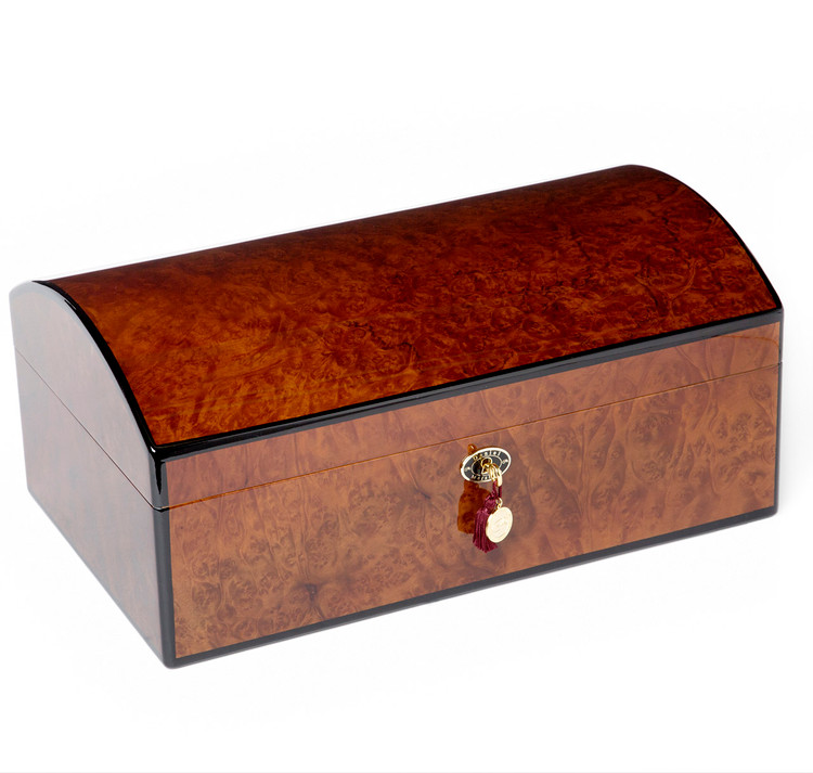 Daniel Marshall 20th Anniversary Treasure Chest Humidor in Burl