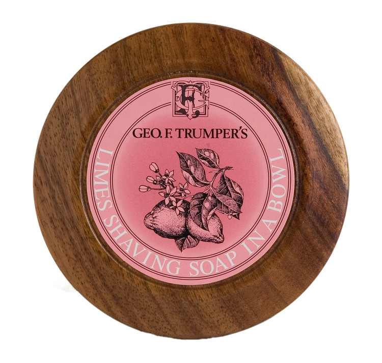 Geo F. Trumper Extract of Limes Hard Shaving Soap Wooden Bowl
