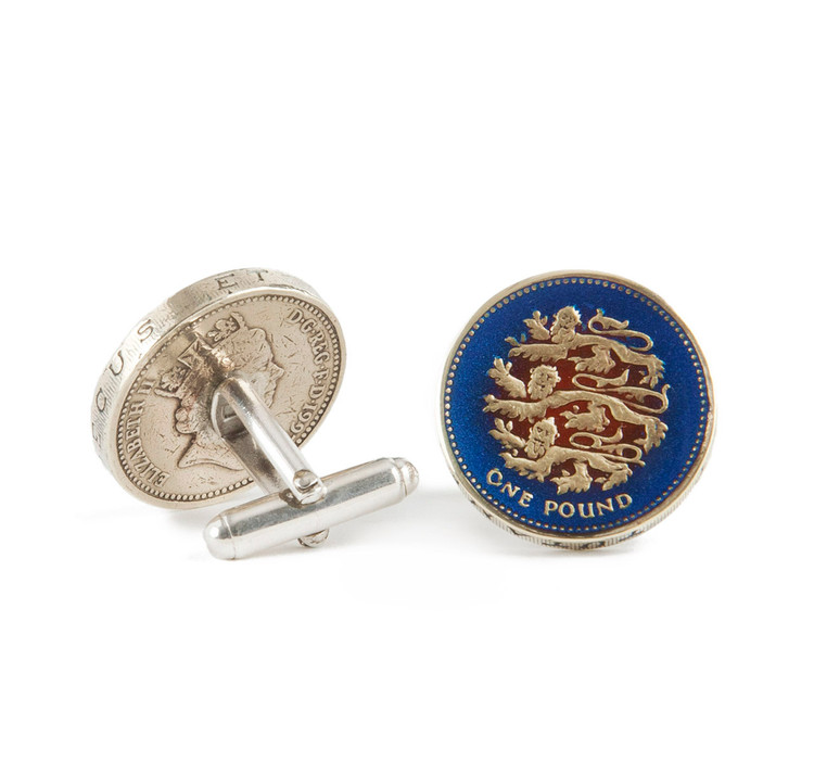 English Pound Coin Cufflinks