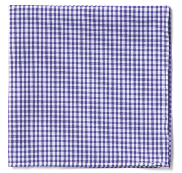 Purples Gingham Pocket Square