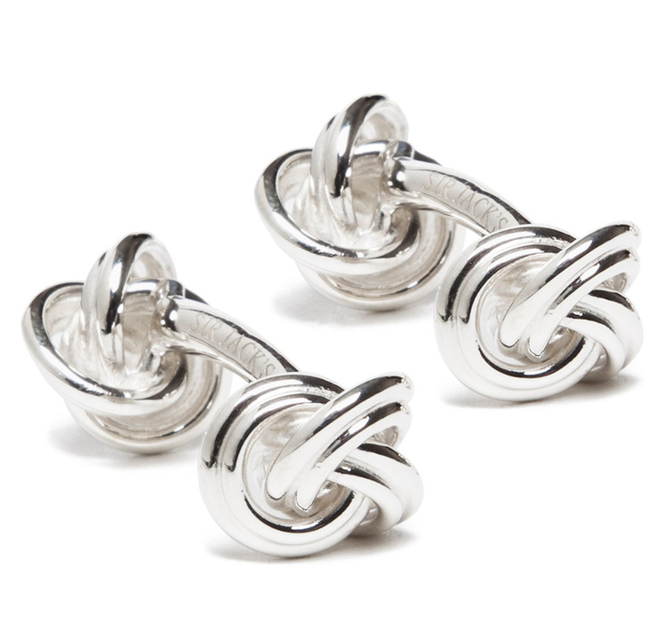Sir Jack's Sterling Silver Double Knot Cufflinks