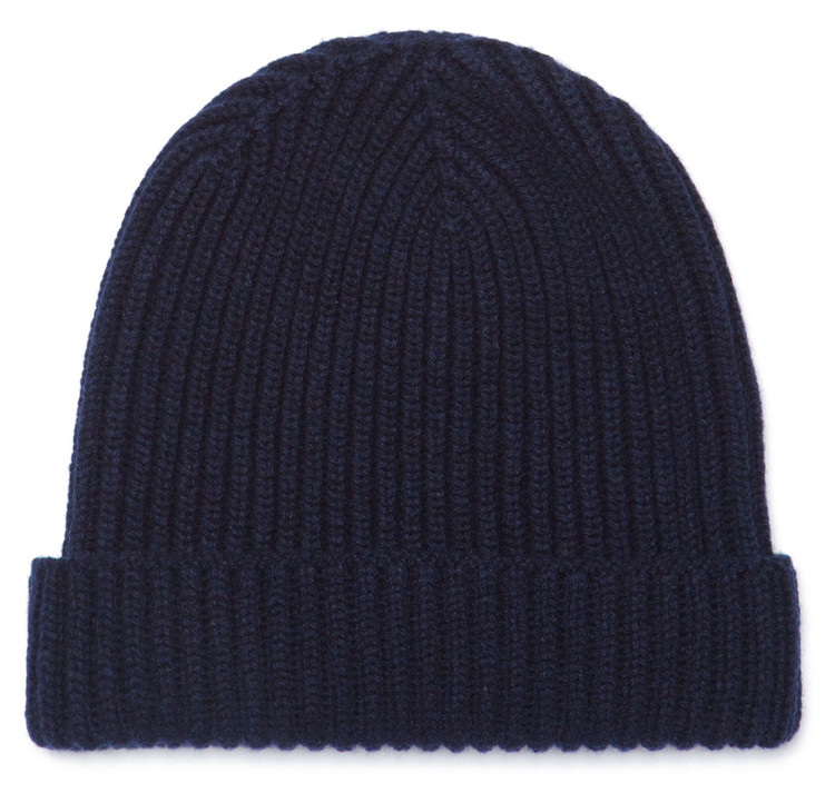 Classic Pure Cashmere Navy Watch Cap
