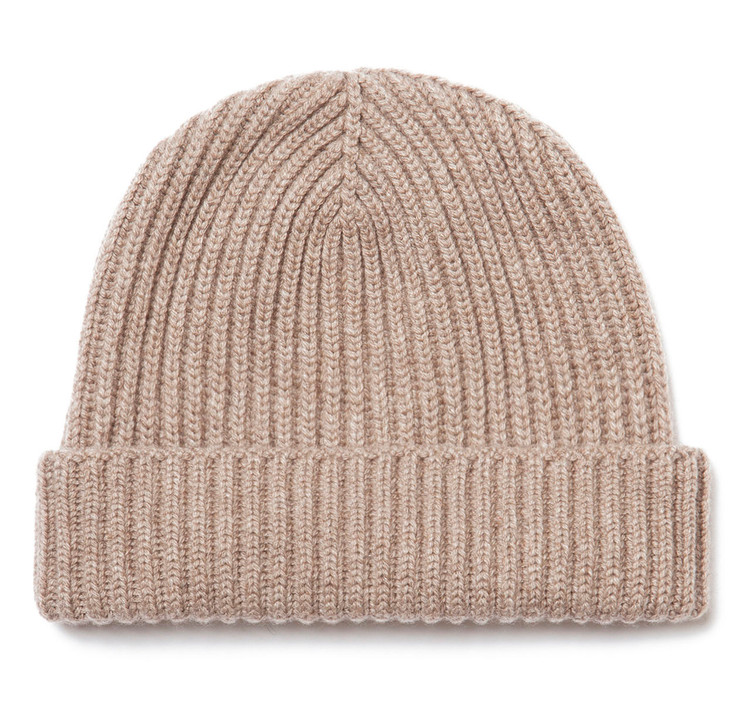 Classic Pure Cashmere Oatmeal Watch Cap