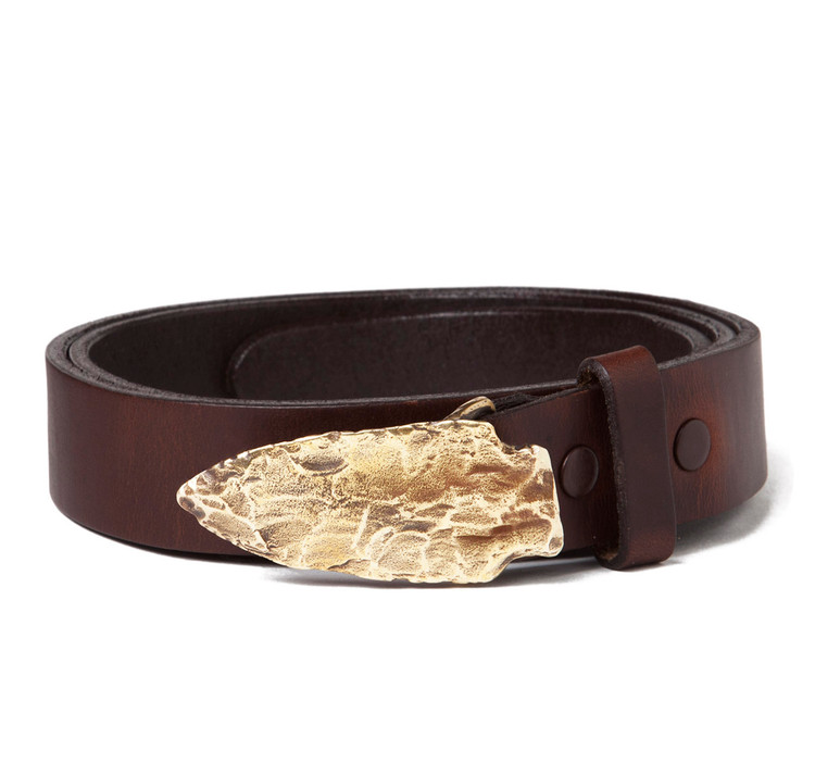 Arrow Head Buckle with Brown Leather Belt
