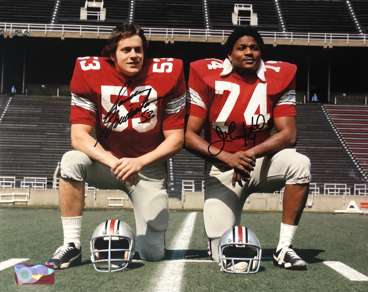 Randy Gradishar & John Hicks OSU 11-1 11x14 Autographed Photo - Certified Authentic