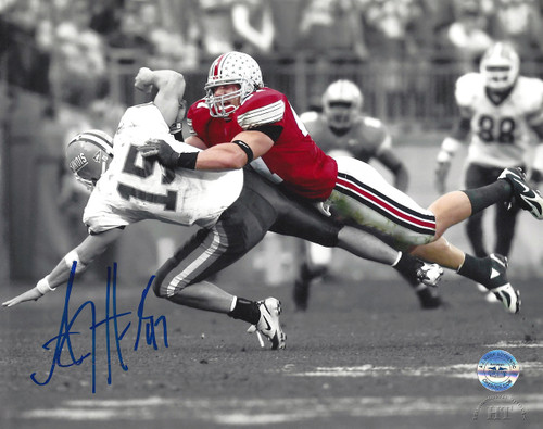 AJ Hawk OSU 8-2 8x10 Autographed Photo - Certified Authentic