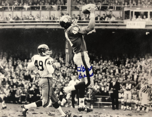 Erich Barnes Giants 11-1 Signed 11x14 Photo