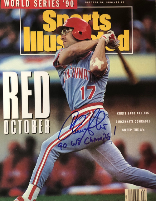 Chris Sabo Reds Insc 11-2 Signed 11x14 Photo
