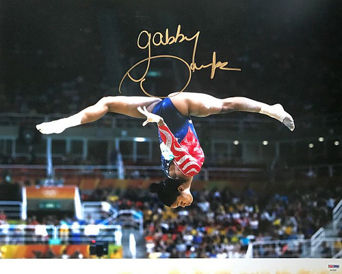 Gabby Douglas Olympics 16-2 Signed 16x20 Photo