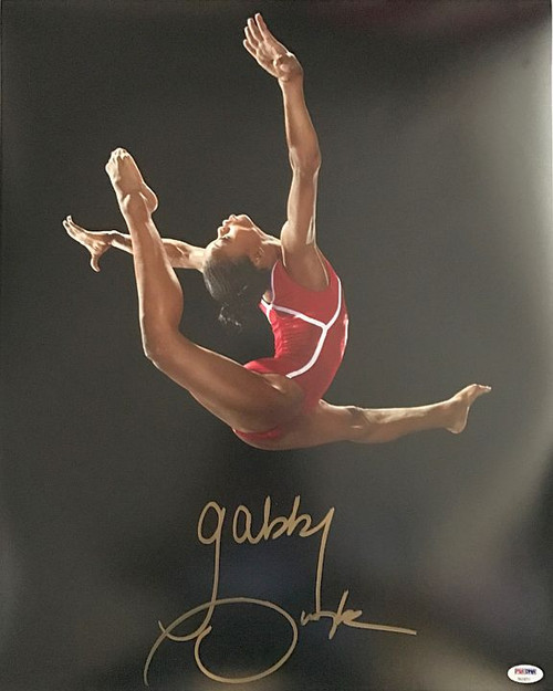 Gabby Douglas Olympics 16-5 Signed 16x20 Photo