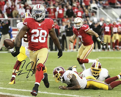 Carlos Hyde San Francisco 49ers 16-2 16x20 Autographed Photo - Certified Authentic