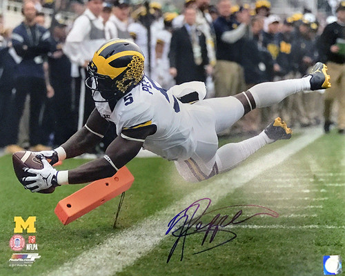 Jabrill Peppers Wolverines 16-1 Signed 16x20 Photo