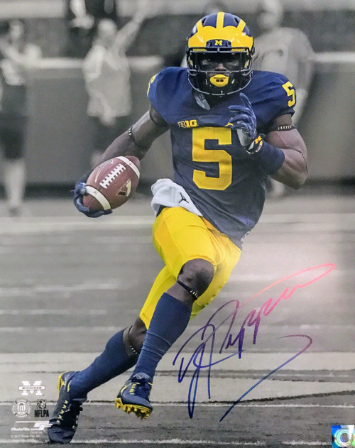 Jabrill Peppers Wolverines 16-2 Signed 16x20 Photo
