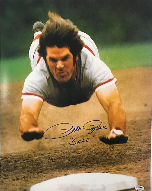Pete Rose Reds 16-1 Signed 16x20 Photo