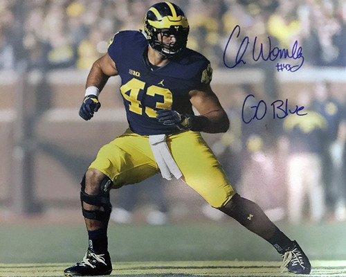 Chris Wormley Wolverines 16-1 Signed 16x20 Photo