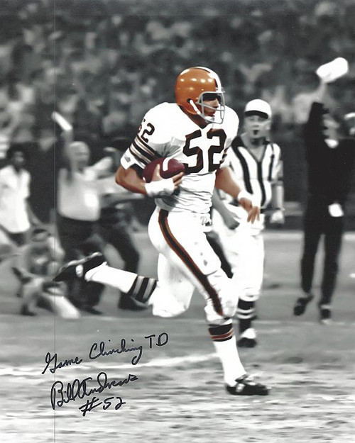 Bill Andrews Browns 8-1 Signed 8x10 Photo