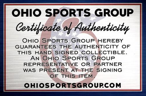 Erich Barnes Browns 8-1 8x10 Autographed Photo - Certified Authentic