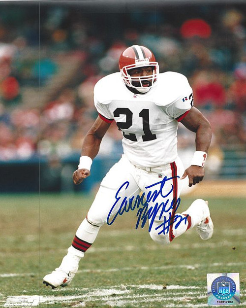 Earnest Byner Browns 8-1 Signed 8x10 Photo